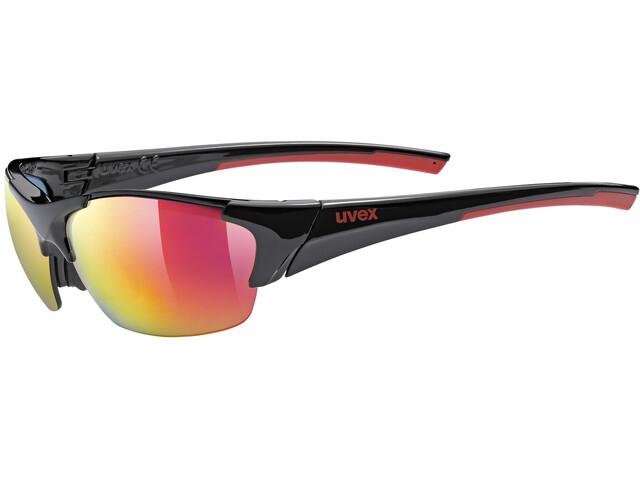 UVEX Blaze III Occhiali, black red/red
